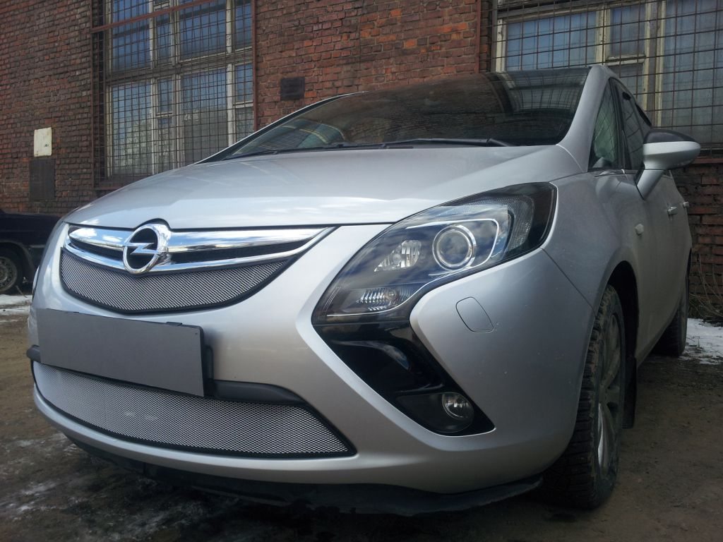 Защита радиатора Opel Zafira 2012- chrome низ
