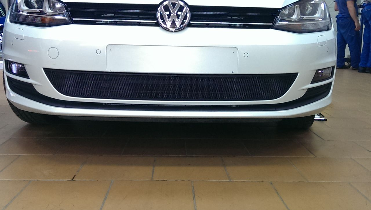 Защита радиатора Volkswagen Golf VII black