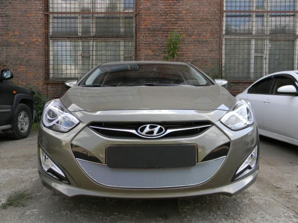 Защита радиатора  Hyundai i40 2012 chrome