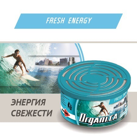 Ароматизатор ж/б organic AIM-ONE Энергия Свежести. AIM-ONE Organic Cans Fresh Energy (ORGANI.CA) ORG