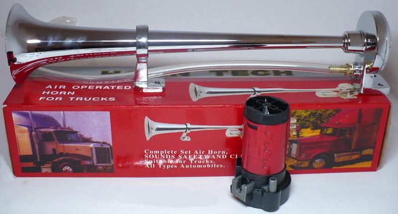 Сигнал воздушный (Пневматический гудок) одно рожковый с мотором Очень мощный.